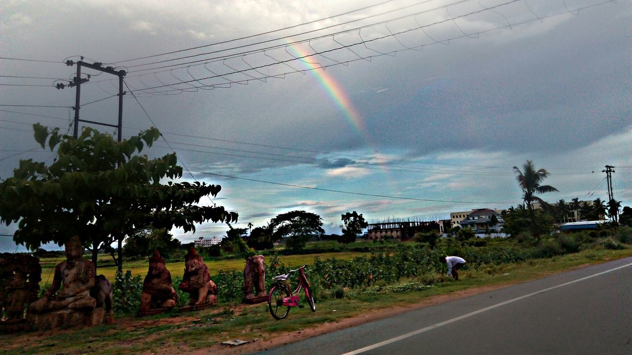 The Journey Is The Destination Mobilephotography On The Way Roadsidephotography Rainbow First Eyeem Photo Picsart Edit RoadsideView