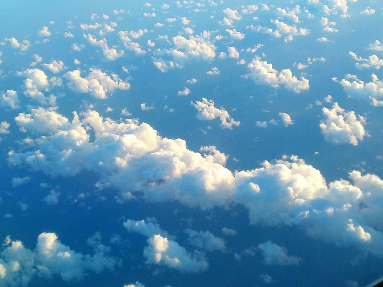 Clouds Clouds And Sky No People Aerial View Sky Cloud - Sky Cloudscape Sunlight Tranquility Scenics Day Mobile Photography
