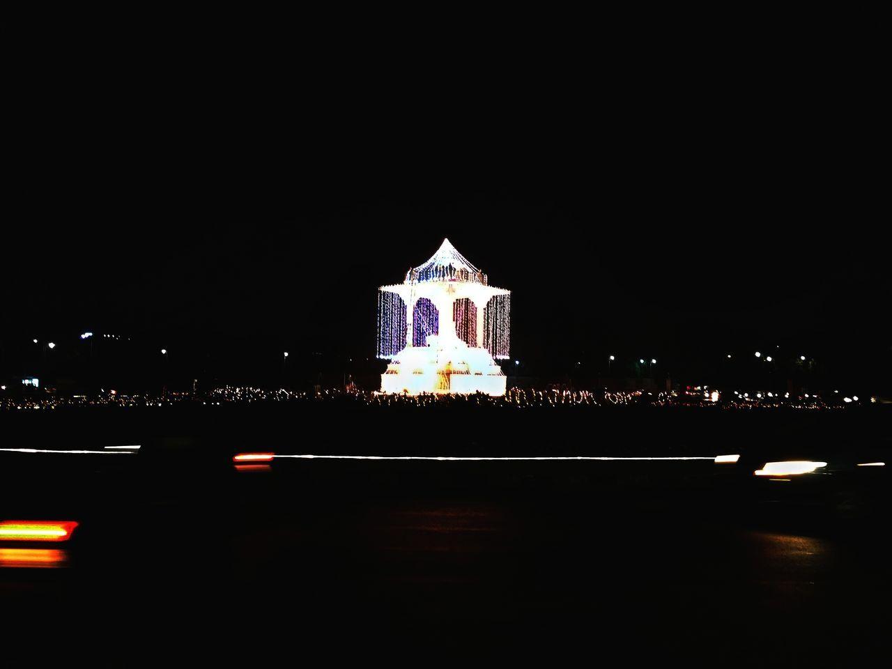 Illuminated Night Architecture Hidden Gems  Rare Lens - Eye Adapted To The City WinterWandering Neon Outdoors Dark No People Travel EpicFeeling Finding New Frontiers Biketour Travel Destinations Street City Jaipur1 Statuecircle The City Light