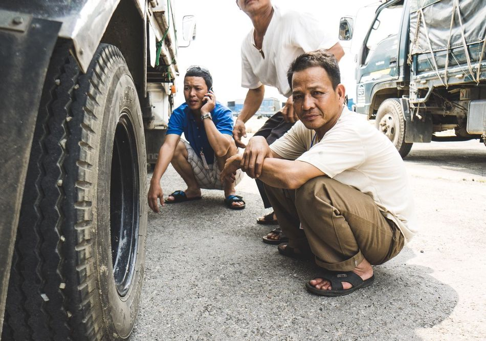 That Sun is no joke! -Tags: Shade Shadow Bright Light Cover Overexposed Portrait Portraiture Portrait Photography Worker Local Truck People Freinds shot with my Sony A6000