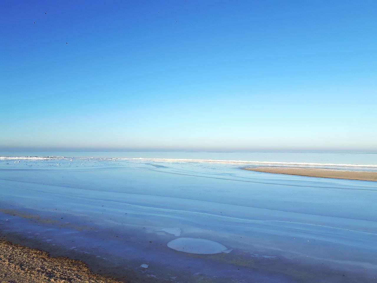 Frozen Baltic sea 💎🌬❄🌊 Horizon Over Water Beach Sky Garciems Beauty In Nature No People Nature Water Sea Baltic Sea February10th Cold Winter ❄⛄ Freshness Frozen Water Frosty Mornings Frost Clear Sky Ice Crystal Ice Travelphotography Latvia