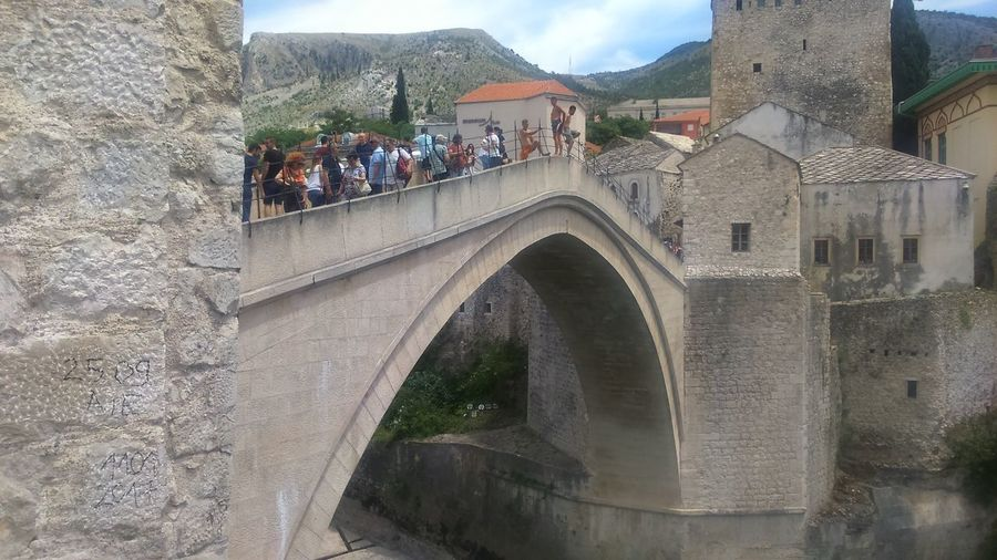 Old bridge Architecture Built Structure Large Group Of People History Day Real People Travel Destinations Outdoors Women Lifestyles Building Exterior Tree Men Sky Water Nature People Adult Adults Only