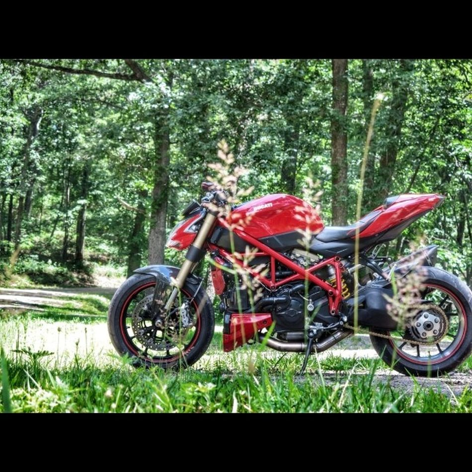 Just roaming around Shawnee for most the day. Great 4th of riding, hiking, hammocking. Downonthemdirtroads Ducati Country Ducatistreetfighter countryrippin lostandlovinit