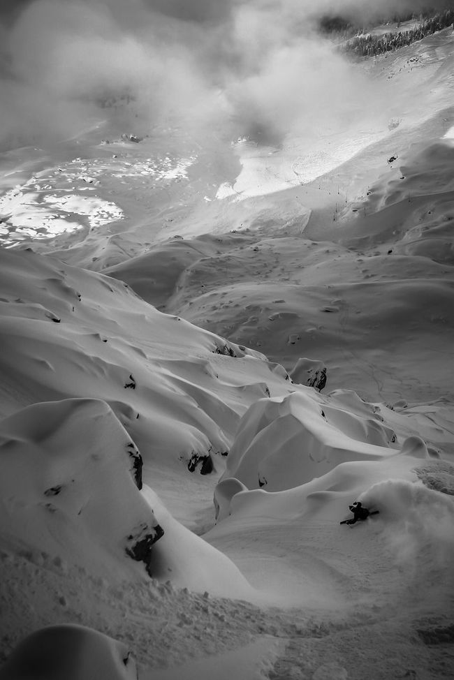 Skiing Freeriding northface Corvatsch Snow Scenics Beauty In Nature Adventure People And Places. Black And White Winter Sports Sports