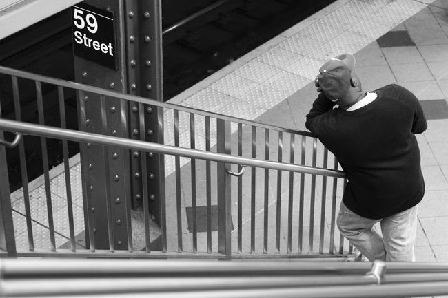 Tired and waiting. NYC Photography Candid Photography Black And White Photography Monochrome The Human Condition Leading Lines Public Transportation Train Station Sony A6000 Project365