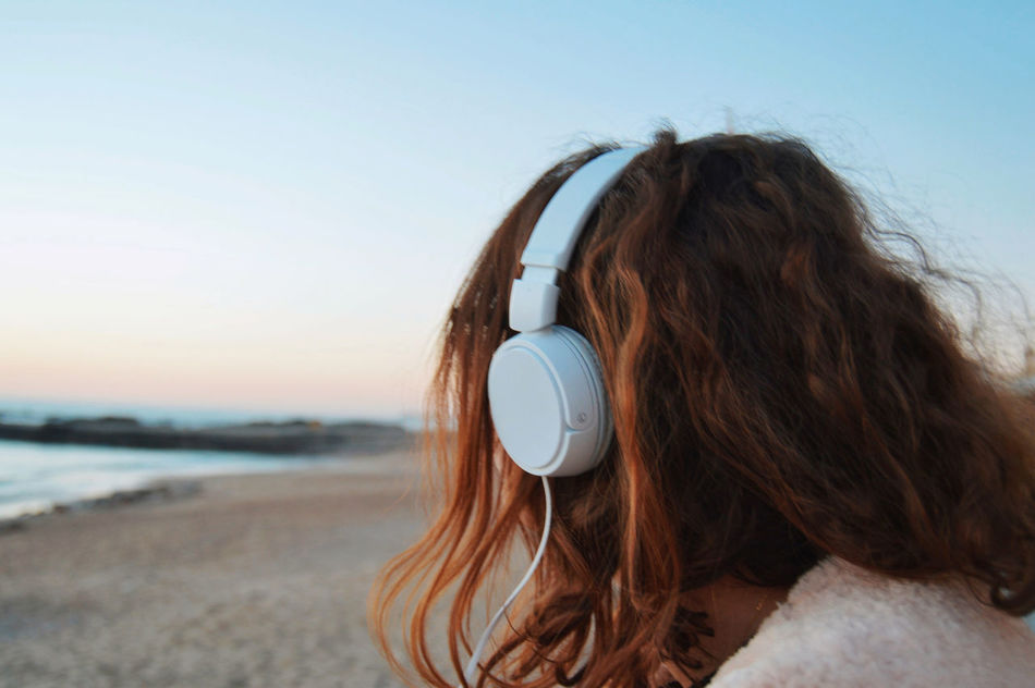 Beautiful stock photos of music,  Adult,  Adults Only,  Beach,  Clear Sky