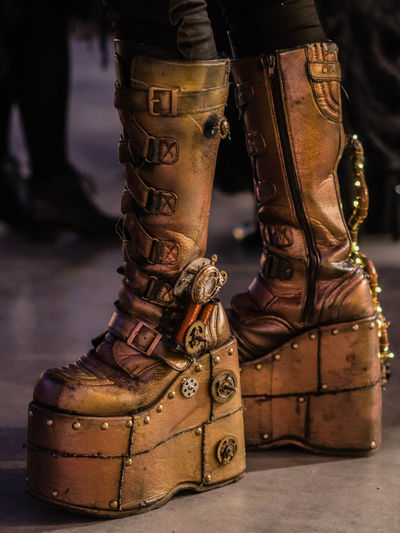 Close-up Day Focus On Foreground Human Body Part Human Leg Ice Rink Ice Skate Indoors  Low Section One Person People Real People Shoe Standing Steam Punk Steampunk Fashion