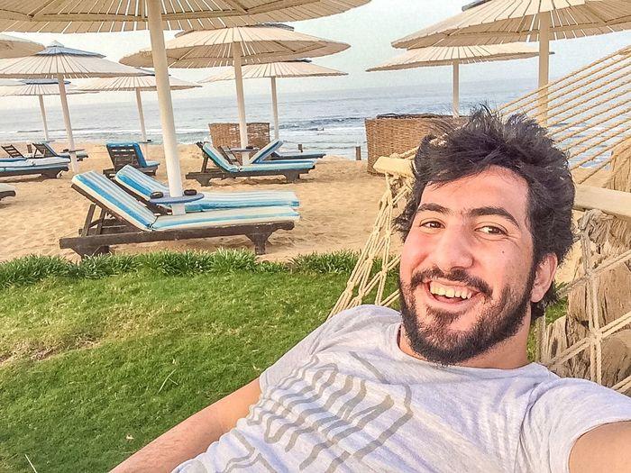 Relaxing View Resting Sea Enjoying Life Be Happy Smile Egypt Hello World Egyptian
