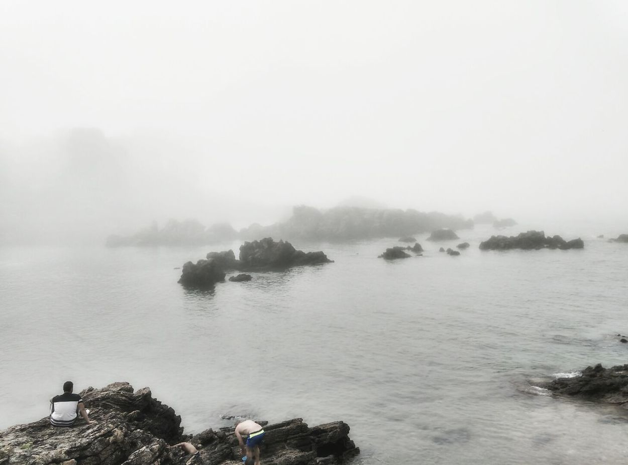 Sea Sea And Rocks Sea Side Mist Misty Seaside Seascape Sea View Morning Rocks Rock Formation Beach Beach Life Sea_collection Misty Morning Misty Mornings Tranquility Tranquil Scene On The Beach Watching The Sea Dramatic Dramatic Lighting Mistery Mistery Atmosphere Atmospheric Mood