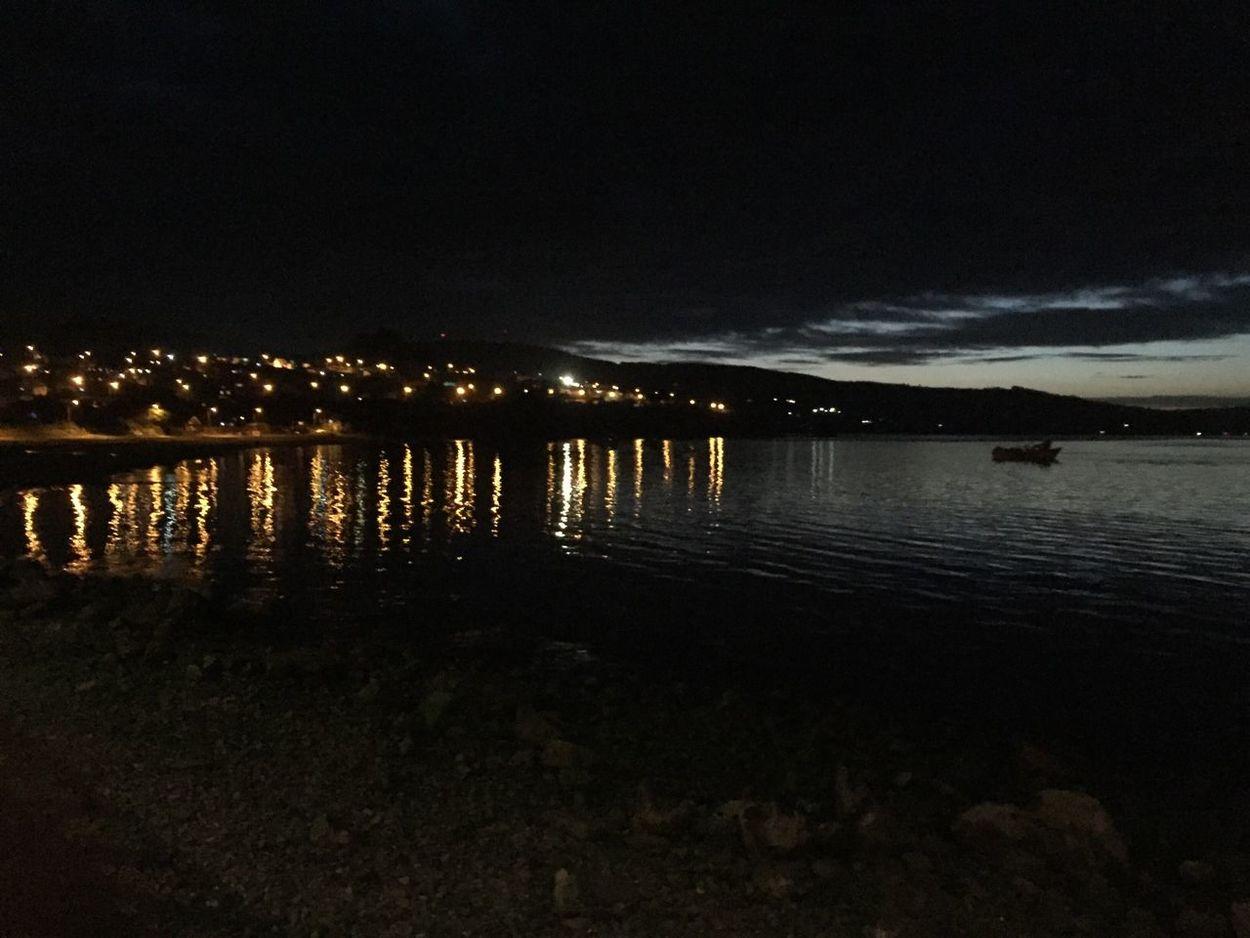 Ancud Ancud-chiloe Illuminated Reflection Night Sky Tranquil Scene Dark Tourism No People Chile Travel Destinations Chilefotos Chilepaisajes Outdoors Sea Boat Isla De Chiloe Chiloé, Chile Chiloeisland