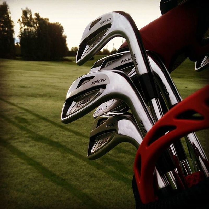 The beautiful ap2 irons 👌 Ap2 Ap2irons Titleistgolf Titleist Titleisttourbag Golfers Golfer Golfing Golfcourse Golf Ilovethisgame