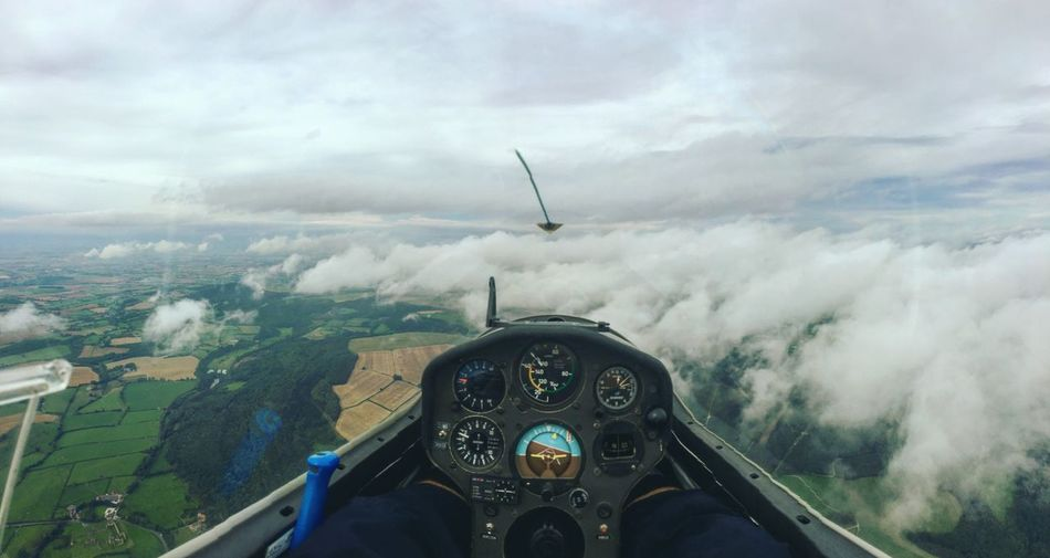 Gliding Remote Suttonbank Glider Plane Flying Clouds Clouds And Sky