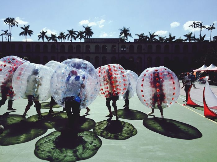 Bubble Soccer. Taipei City Iphone6 Iphonephotography Bubbles Saturdaymorning