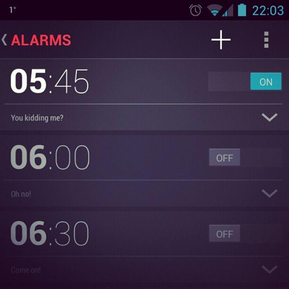 Lovely. Alarm M åndag Snark