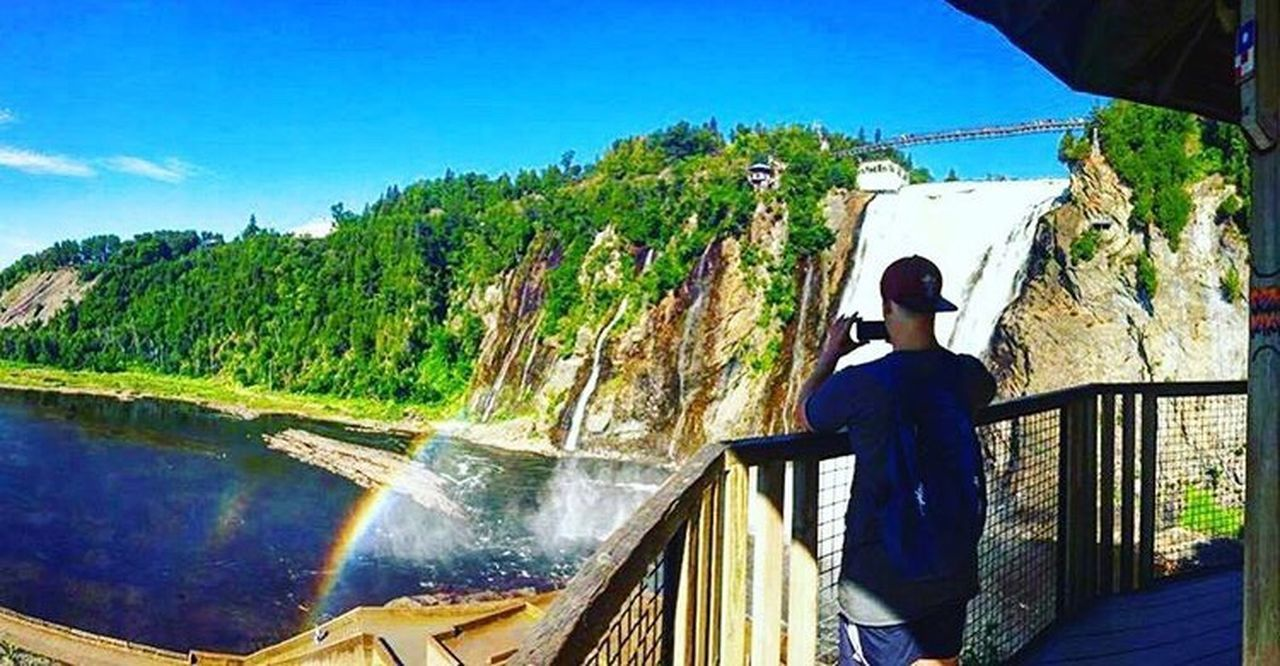 Flying High Montmorency Falls Water Waterfall Rainbow Mybrother Intothewild