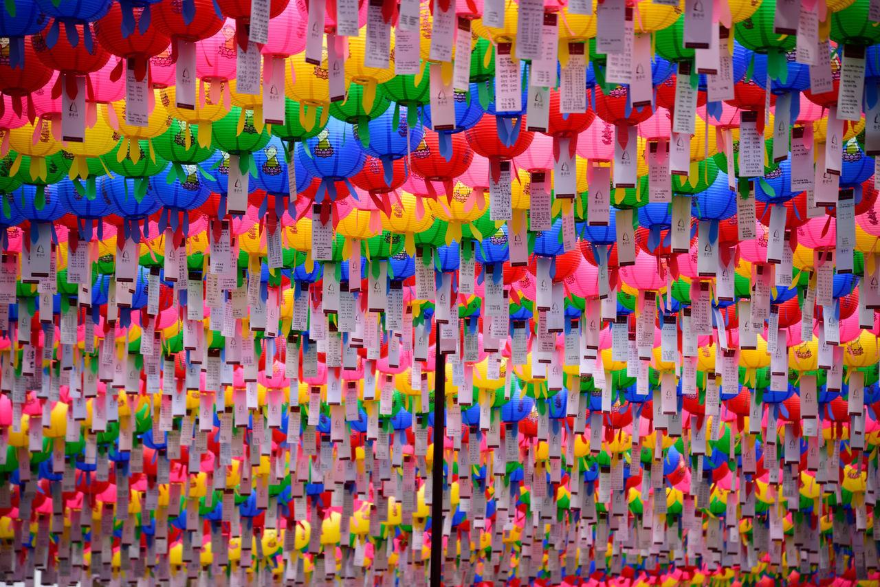 Abundance Buddha's Birthday Choice Close-up Day Hanging Large Group Of Objects Lotus Lantern Festival Multi Colored No People Seoul, Korea Variation Wishes