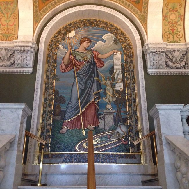 Minerva at the Library Of Congress