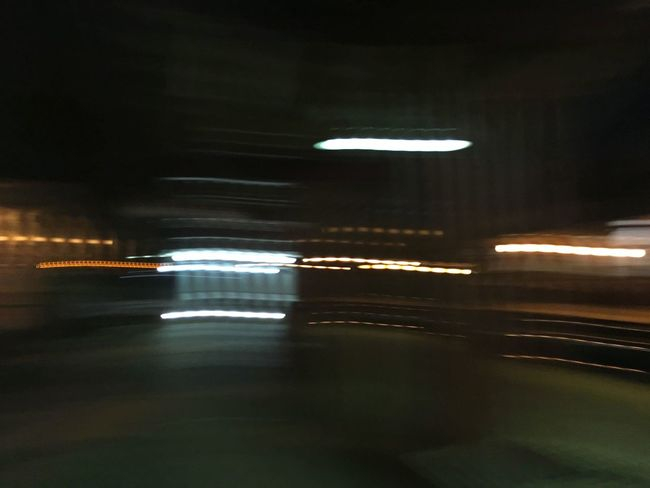 Blurred Motion City City Life Dark Diminishing Perspective Empty Illuminated Light Trail Lighting Equipment Mode Of Transport Motion Night No People Road The Way Forward Transportation Tunnel