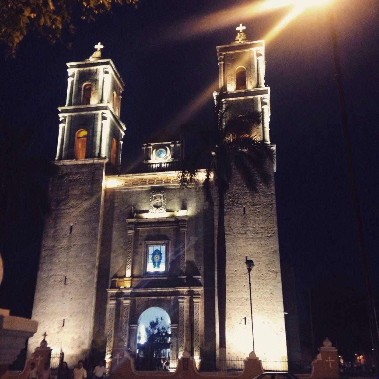 Church Valladolid Pueblo Mágico Nightphotography Night Walk