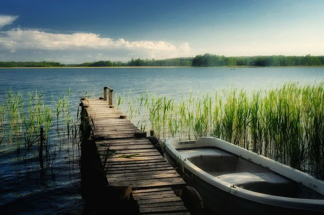 Lake Water Sky Nature Sunlight Day Beauty In Nature No People Summer Sunny Blue Poland Warmia Mazury