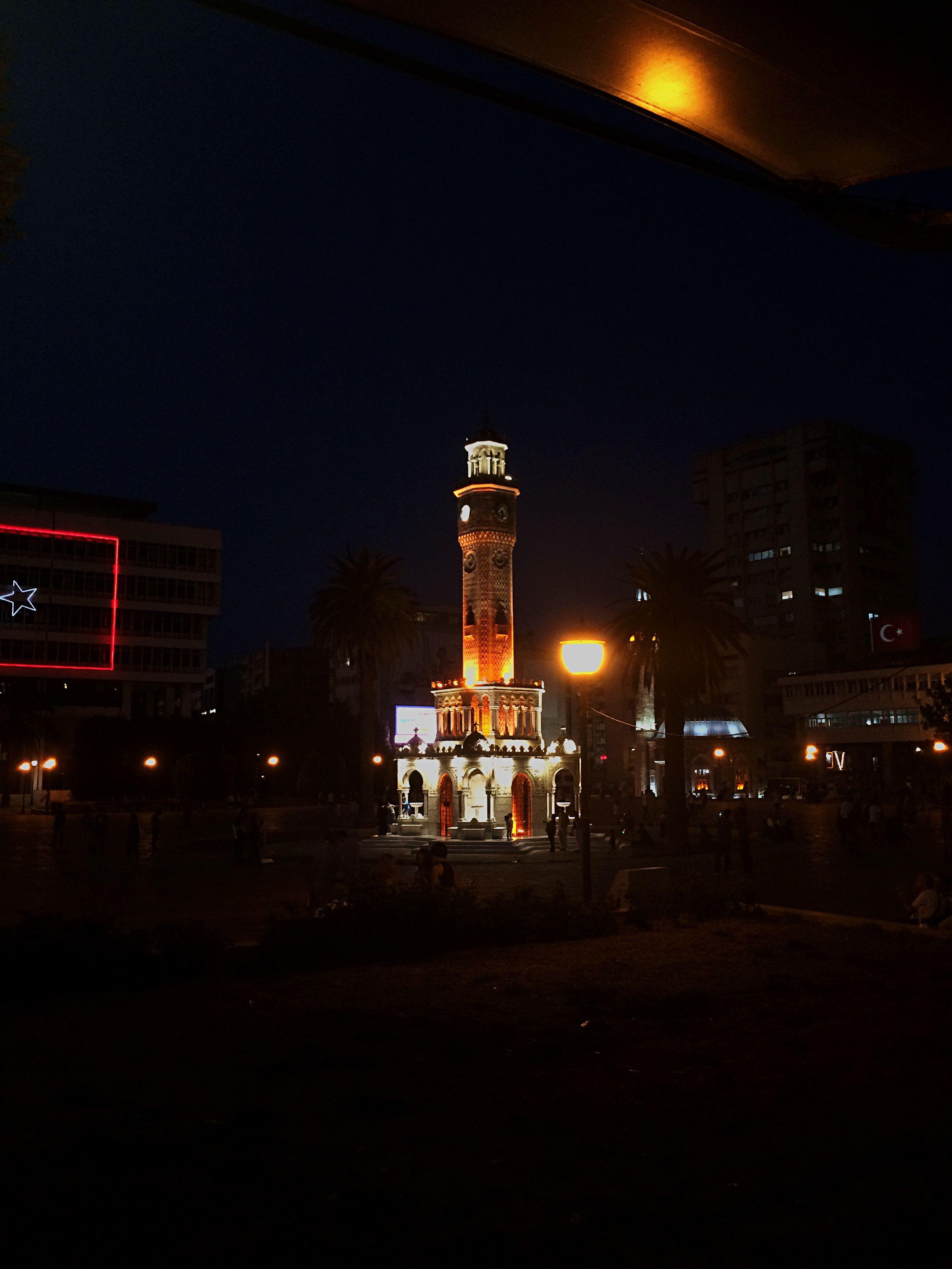 night, illuminated, city, city life, sky, outdoors, no people