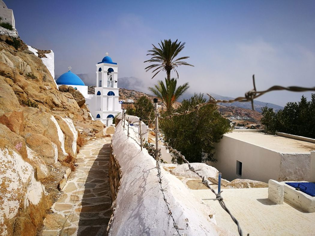 No People Religion Church GREECE ♥♥ Chora Ios Island Sand Outdoors Shadow Day Spirituality Architecture Sky Building Exterior Tree