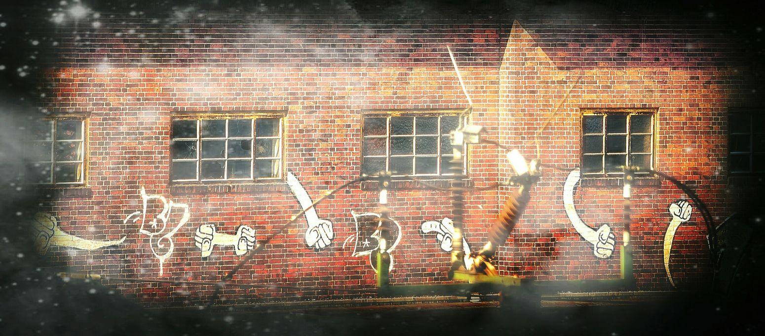 Rage Against The Machine Fight The Power Bricks'n'windows Get Up Stand Up Fists Graffiti Art Streetart
