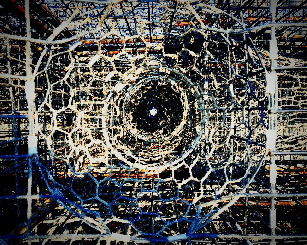 Looking Through The Lobster Pots Maritime Fishery  Fishing Industry Outdoors Outdoor Photography Pots Lobster Pots IShootFromMyWheelchair My Perspective Perspective Eyeem Market Eyeemphotography Eye4photography  EyeEm Port Of Los Angeles Ports O' Call Close-up