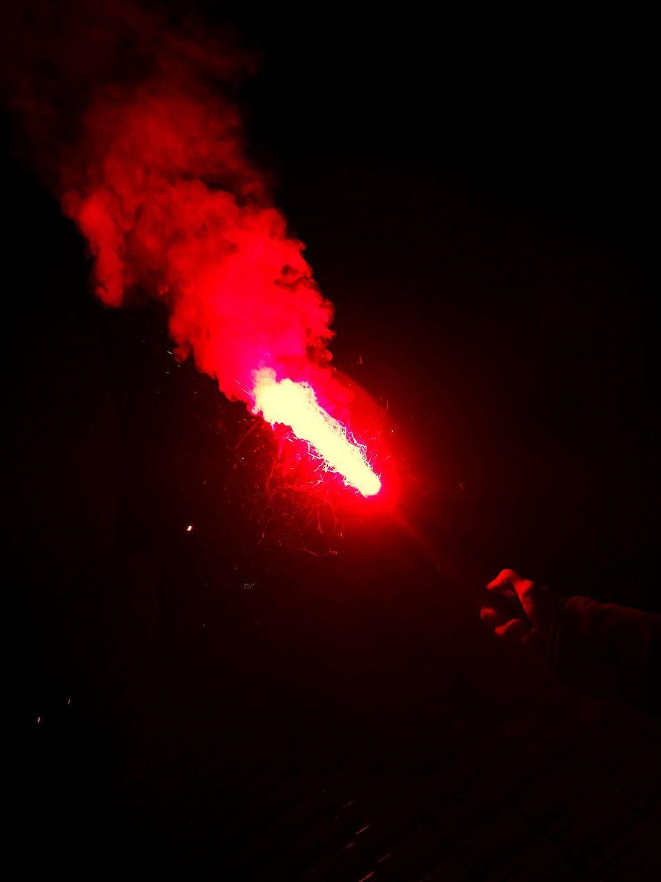 Pyrotechnics Red Fireworks Night