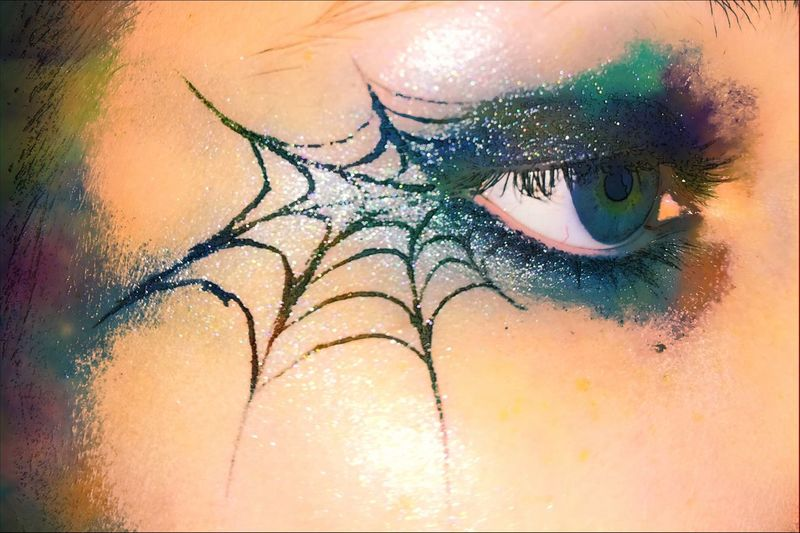 Human Eye Human Body Part Eyelash Eyeshadow One Person Close-up Eye Make-up Only Women One Woman Only Young Adult People Beautiful Woman Beauty Adult One Young Woman Only Adults Only Indoors  Young Women Day Taking Pictures Colourful Aquarell Colourfull Eye Taking Photos