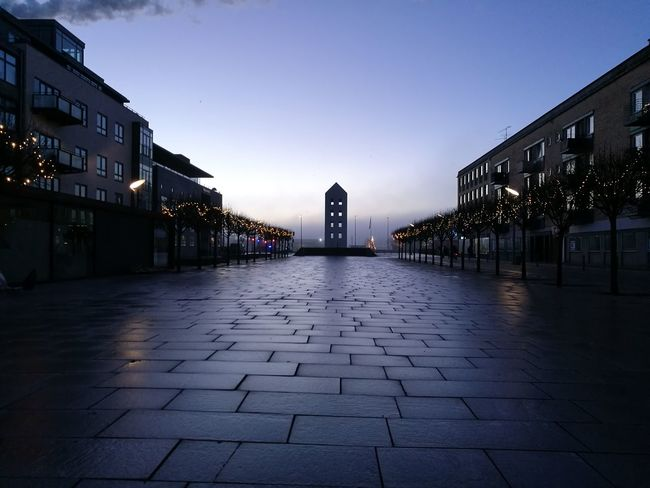 Architecture Building Exterior City Cityscape Dawn Day Morning Light No People Outdoors Randers Sky Town Square Travel Destinations Place Of Heart