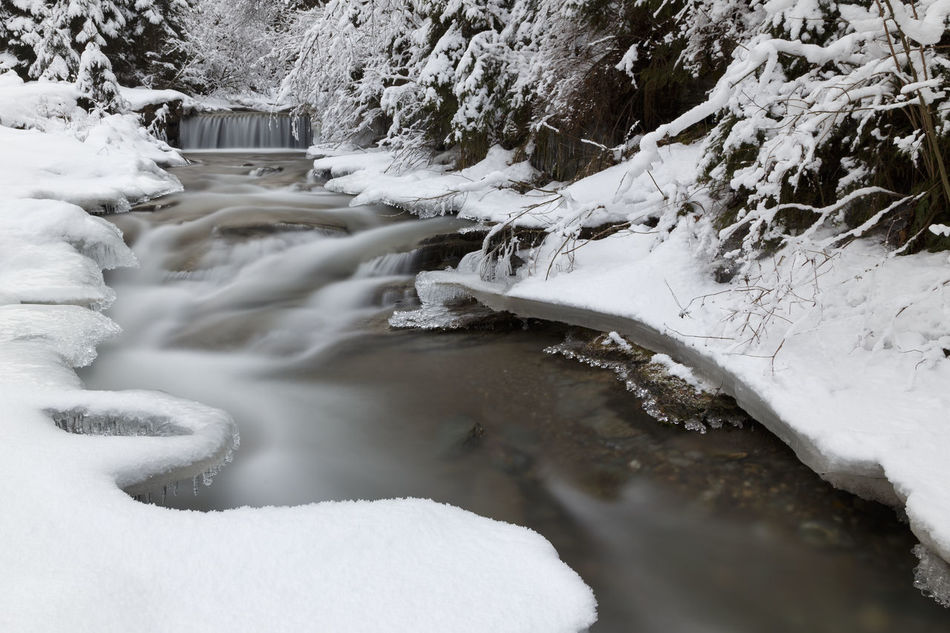 Frozen winter scene Abstract Beauty In Nature Day Environment Frozen Glacial Landscape Nature No People Outdoors River Scene Scenic Scenics Tranquil Scene Tranquility Tree Water Waterfall Winter