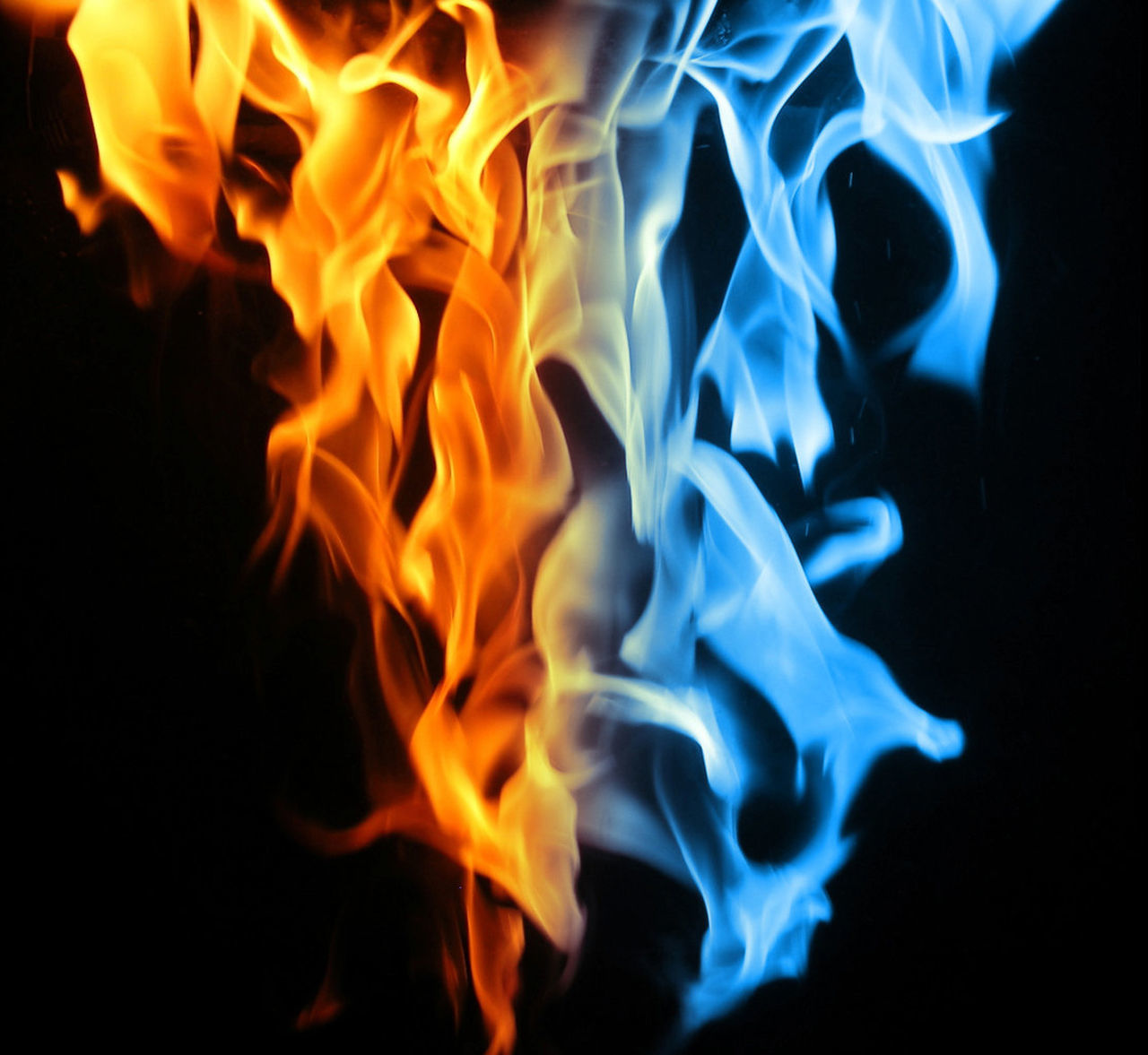 burning, flame, heat - temperature, close-up, smoke - physical structure, no people, black background, night, motion, indoors