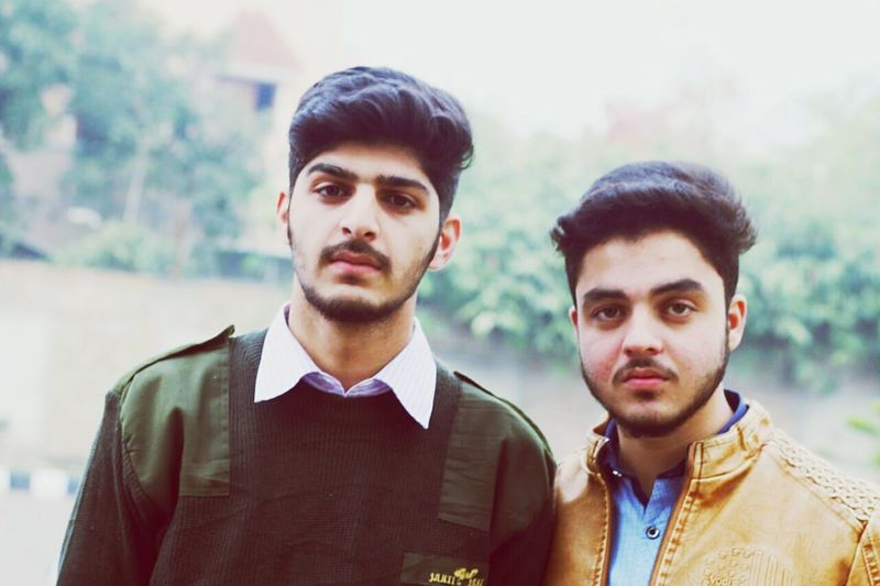 Two People Young Adult Only Men Adults Only Young Men Looking At Camera Portrait Outdoors first eyeem photo