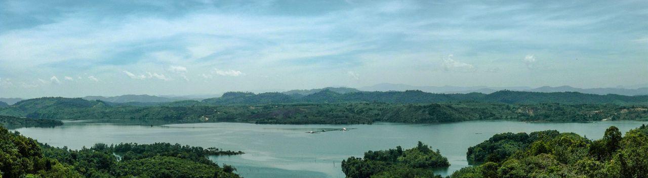 Lake KOTO PANJANG Malephotographerofthemonth Showcase April Panoramic Landscape Panoramic Photography Panoramic View Lake View Pekanbaru Kampar Blue Sky Blue Wave