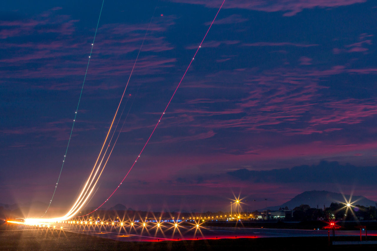 Beautiful stock photos of nacht, Air Vehicle, Airplane, Airport Runway, Atmospheric Mood