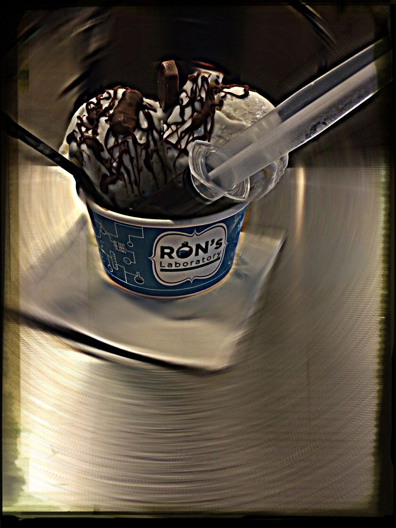 """Ice Cream After Lunch Time For Dessert! Wind proof chocolate with hint of """"tolak angin"""" in it.."""