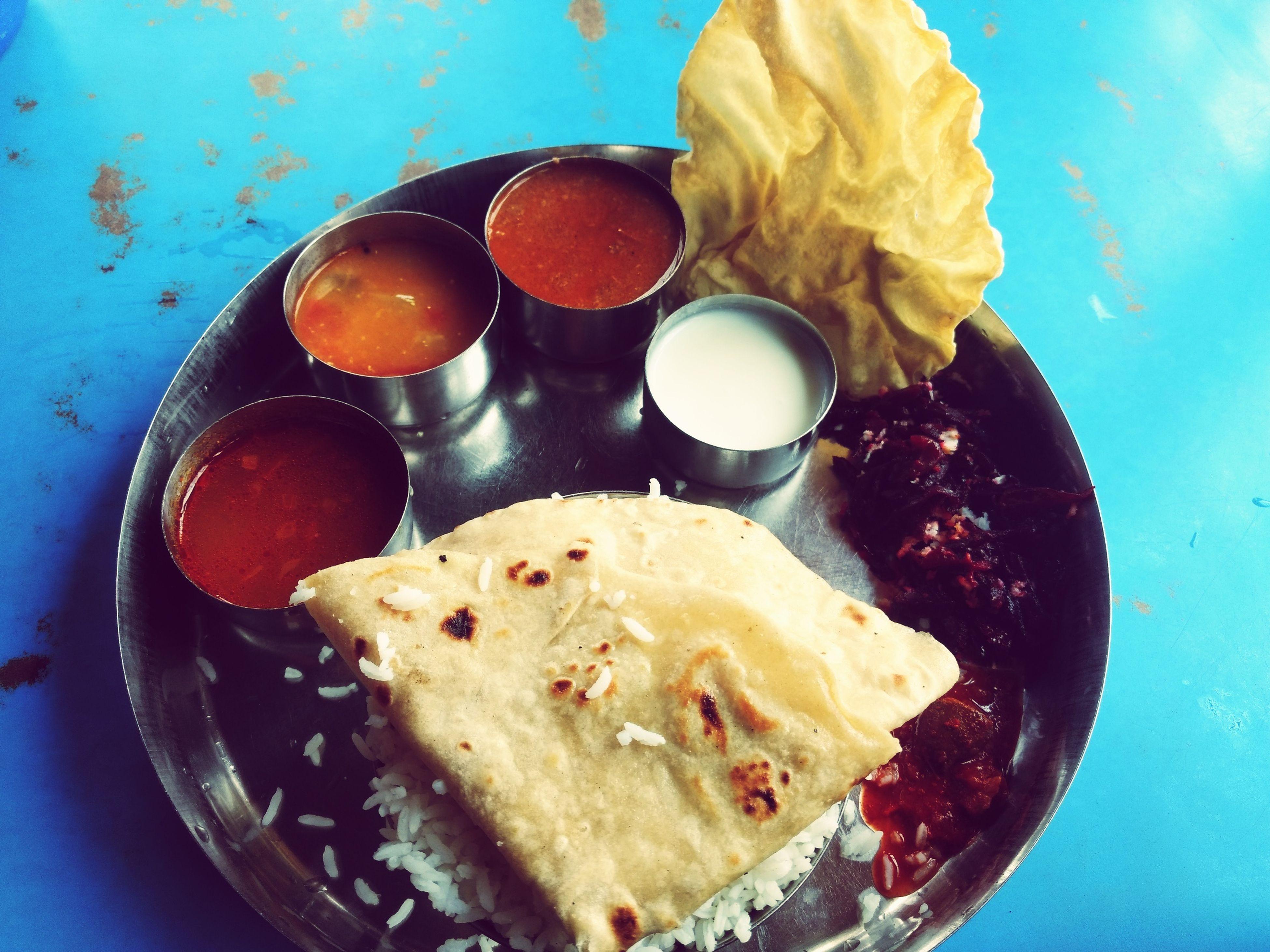 Veg meal.. Vegthali Indianfood Coorg