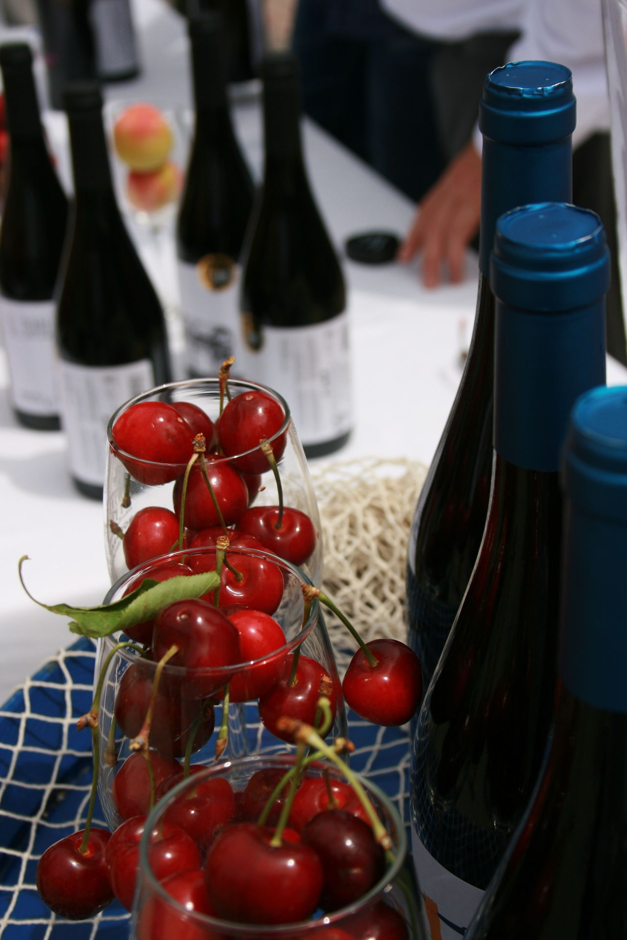 I go for cherries! Bottle Cherries Close-up Food Food And Drink Fresh Fruits Freshness Healthy Eating Red Red Cherries Spanish Wine Table Valencia, Spain Wine Wine Bottles Wineglass