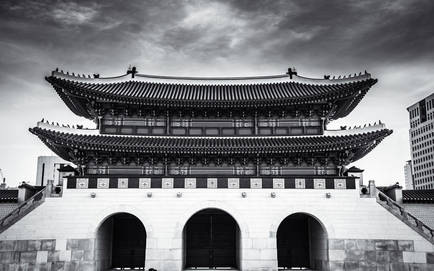 Seoul Seoul, Korea South Korea Temples Architecture Building Exterior Built Structure Cloud - Sky Day Low Angle View No People Outdoors Sky Temple Temple - Building Temple Architecture Travel Destinations