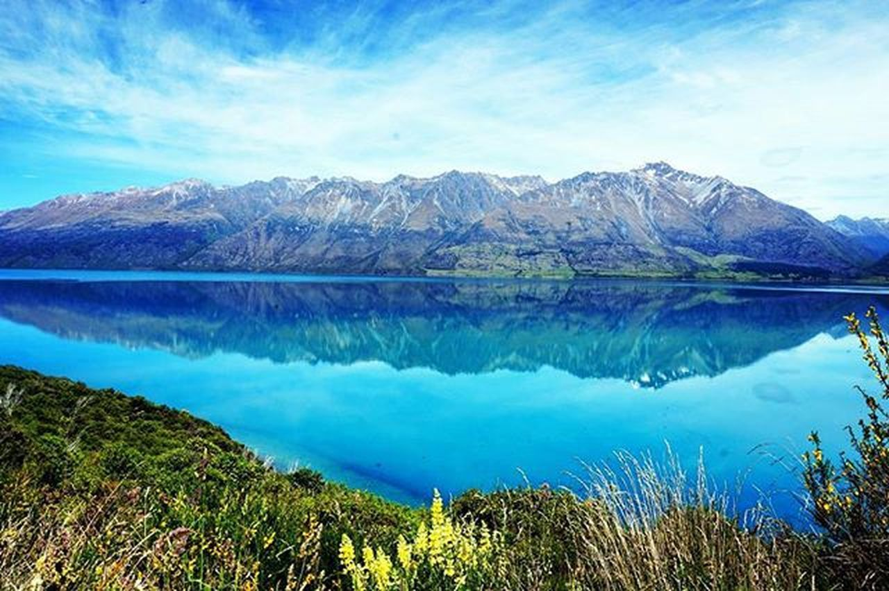 Mirrored Mountain 2 -Choose your Fav. // Lake Wakatipu Do you prefer the original or the upside down Version ? Chooseyourfave Lakewakatipu Southernlakes Southisland Newzealand Road Queenstown To  Glenorchy Lake Reflection Nzmustdo Purenz Wanderlust Neuseelandern Instatravel Ig_newzealand Travel Igs_oceania Queenstownholidays Newzealandguide Landscapes With WhiteWall