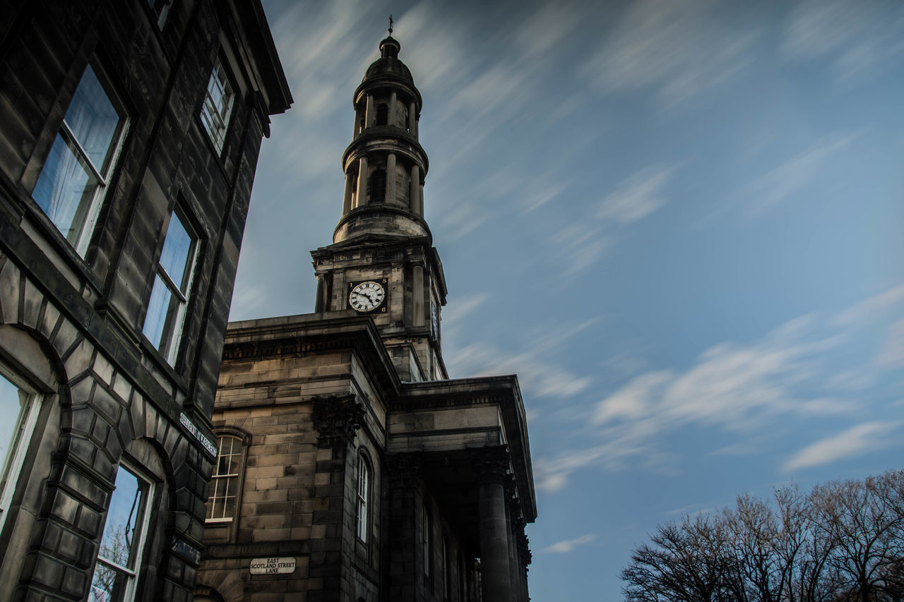 St Mary's Parish Church, Bellevue, Edinburgh Architecture Bellevue Building Exterior Church Clock Clock Face Clock Tower Cloud - Sky Day Edinburgh EyeEmNewHere Long Exposure Low Angle View Minute Hand Nikonphotography No People Parish Pauldroberts Sky St Mary's St Mary's Parish EyeEmNewHere. The Street Photographer - 2017 EyeEm Awards The Architect - 2017 EyeEm Awards