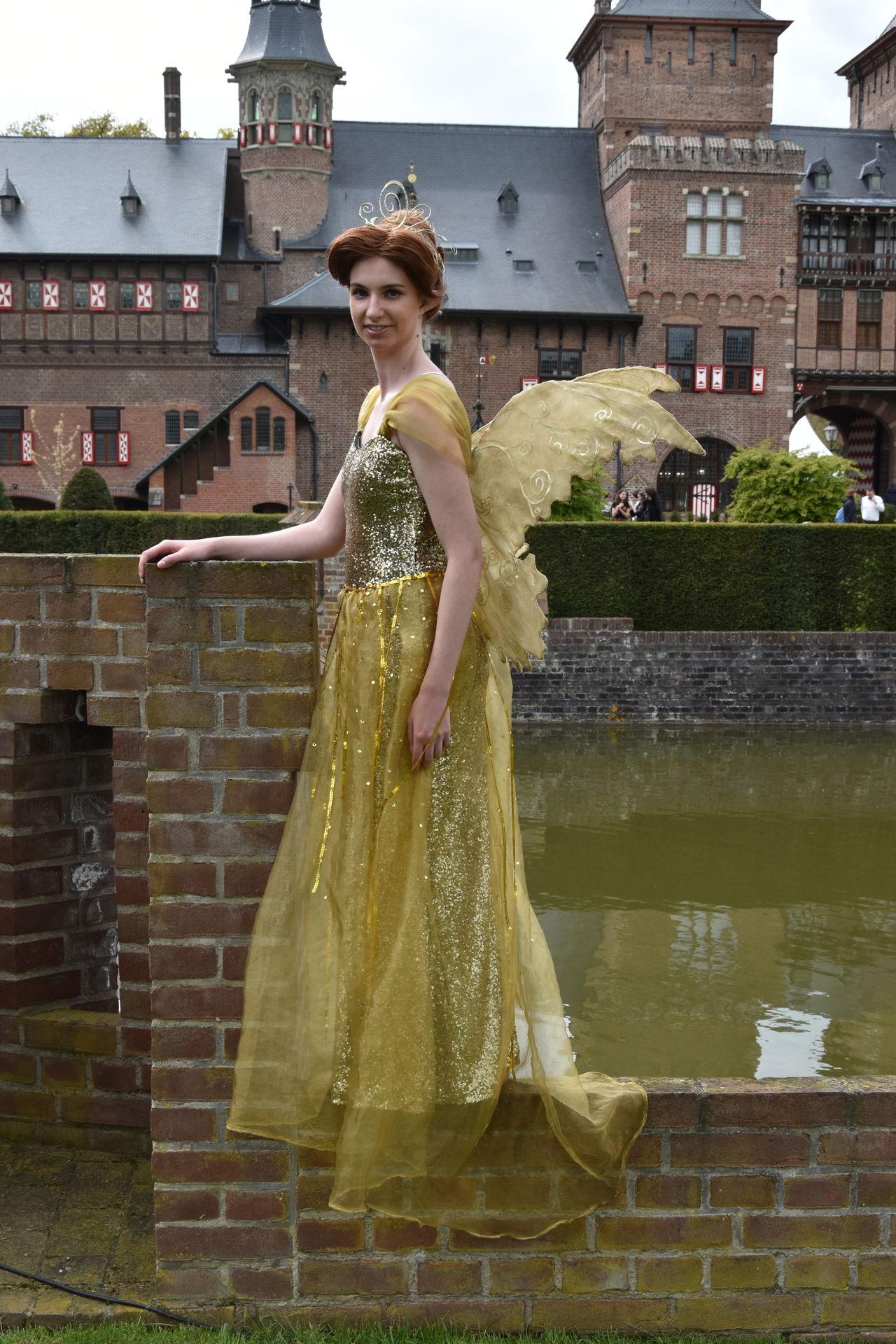 Architecture Beautiful Woman Building Exterior Castle Grounds Dress Elfia Fairy Fashion Lifestyles One Person Portrait Standing