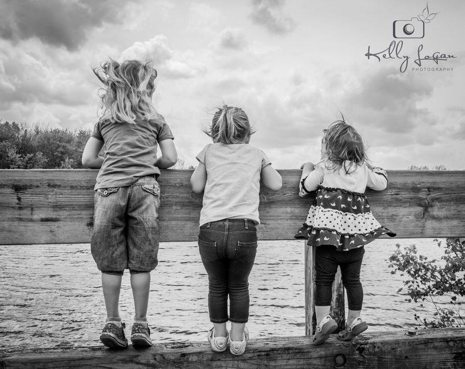Besties Friends Blackandwhite Black & White Blackandwhite Photography Children Childhood Lake View Children Photography Canonphotography Canon