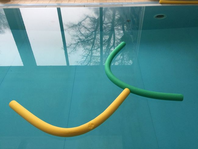 Close-up Glass Green Color Indoors  Modern No People Swimming Pool