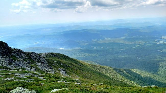 Green Mountain Mountains Hiking Vermont Landscape EyeEm Masterclass Landscape_Collection Scenery Rocks Mountain View Mountain Top Mt. Mansfield Nature Shades Of Blue Eye Em Nature Lover Eyem Nature Lovers  Greenmountain Green Mountains Clouds Clouds And Sky Cloudshadows