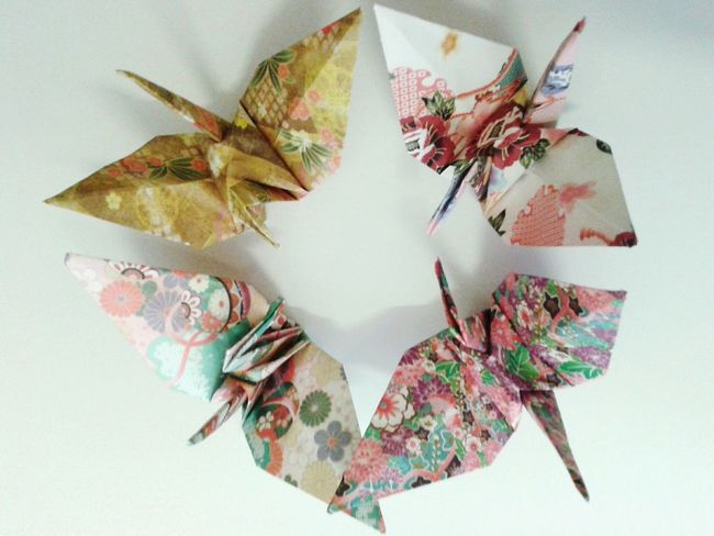 Origami Cranes Paper Paper Art Circle Wings Pattern Paper Paper Cranes Papercraft Creative Colorful White Learn & Shoot: Simplicity