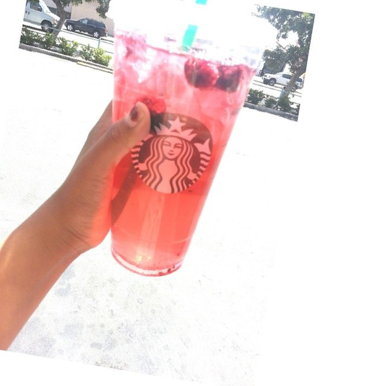 Its a must. Starbucks Trenta