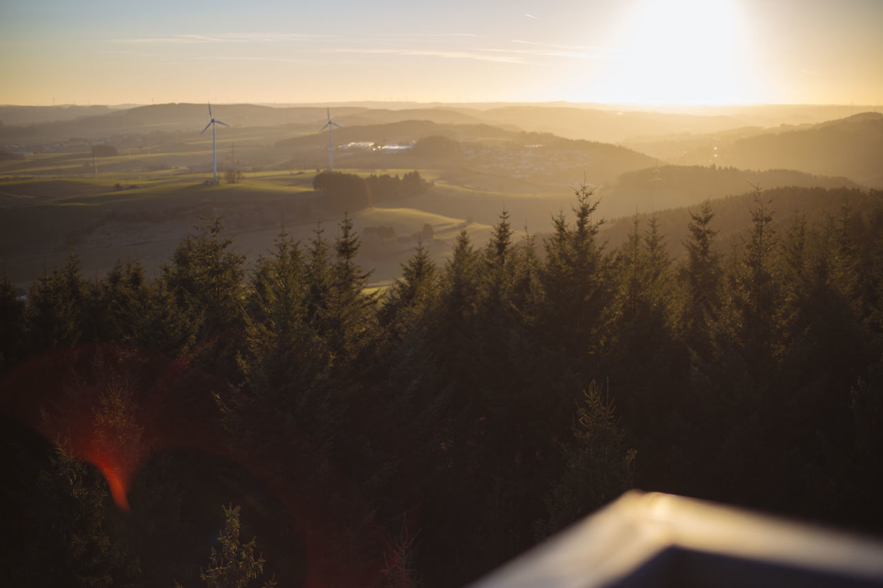 Beauty In Nature Eifel Forest From Above  Germany Landscape Landscapes Morning Light Morning Sky Morning Sun Mountain Nature No People Outdoors Outlook Picturesque Scenics Sky Sunlight Tranquil Scene Tranquility Tree Viewpoint