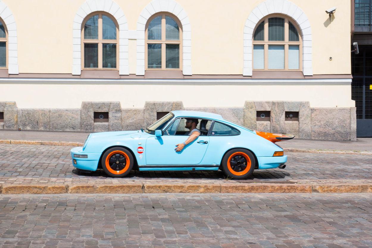 The Drive Porsche Porsche 911 Blue Bluecar Old Car Old Porsche